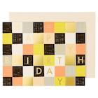 Garance Doré Checkered Birthday Card