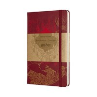 Moleskine Limited Edition Notebook Harry Potter Large Ruled Map Red by Moleskine