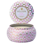 Two-Wick Metallo Tin Candle—Pink Citron