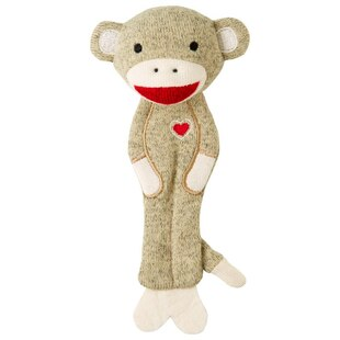 Plush Sock Monkey Bookmark