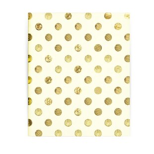 Kate Spade Spiral Notebook Gold Dots