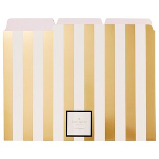 File Folders Gold Stripes 6pk