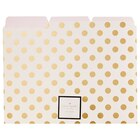 File Folders Gold Dots 6pk