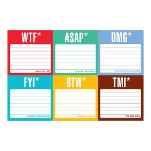 Sticky Note Packet Honest Acronyms