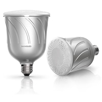 Sengled Pulse Dimmable Led Light W/ Wireless Bluetooth Speakers (pair), Powered By Jbl - Pewter By Sengled