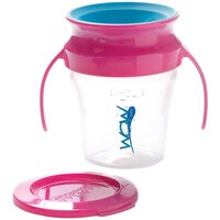 Wow Baby(r) Wow Cup(r) 7oz - Pink Handle & Teal Valve by Wow Cup