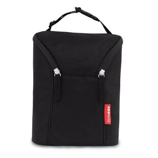 DOUBLE BOTTLE BAG - BLACK