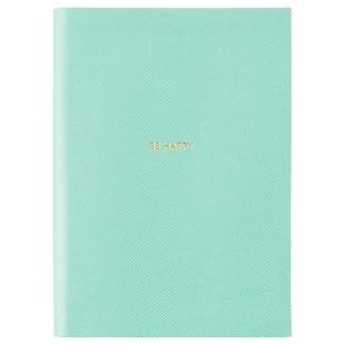 Gold Leaf Journal - Aqua (Large)