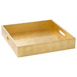 Square Lacquer Tray – Gold