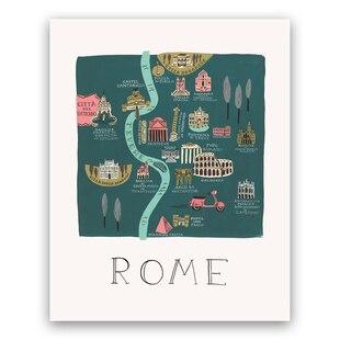 Rome Map Print- 8x10