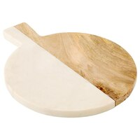 Round Wood & Marble Board