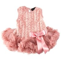 Rosette Petti Onesie - Dusty Rose (0-3 Months) by Olivia Rose