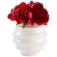 Round Bouquet Vase - White by Indigo