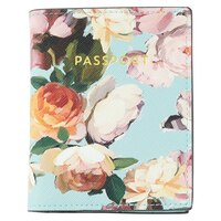 Passport Cover - Painted Floral Mint by Indigo