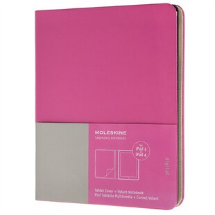 Moleskine iPad 3/4 Cover with Volant Notebook - Magenta