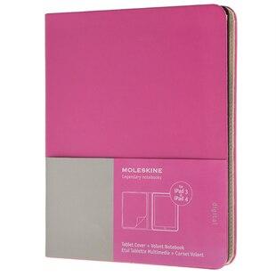 Moleskine iPad 3/4 Cover with Volant Notebook - Magenta