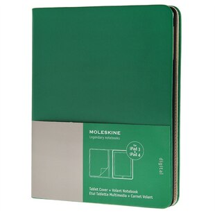 Moleskine iPad 3/4 Cover with Volant Notebook - Oxide Green
