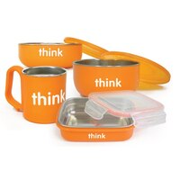 THINKBABY FEEDING SET ORANGE by Thinkbaby
