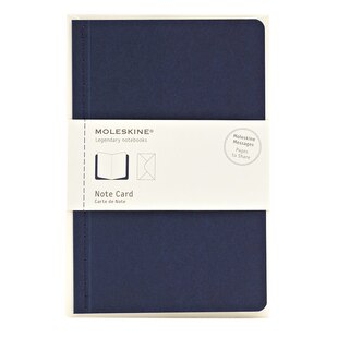 Navy Note Card  by Moleskine