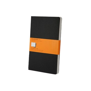 Moleskine Large Black Cahier Ruled