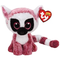 TY BEANIE BOOS Leeann the Pink Lemur (Small) by Ty