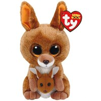 TY BEANIE BOOS Kipper the Brown Kangaroo (Small) by Ty