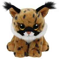 TY BEANIE BOOS Larry the Brown Lynx (Small) by Ty