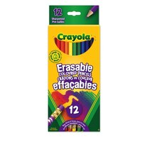 Crayola 12ct Eraseable Coloured Pencils by Crayola