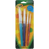 Crayola 4ct Rounded Brush Set by Crayola