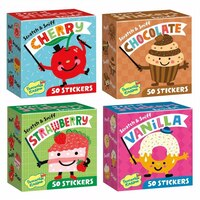 Scratch & Sniff Sticker Box Cherry Vanilla Chocolate or Strawberry - Sold individually by Paper E. Clips