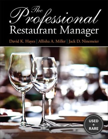 The Professional Restaurant Manager Format: Paper