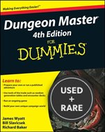 Dungeon Master 4th Edition for Dummies [Paperback] By Wyatt, James; Slavicsek...