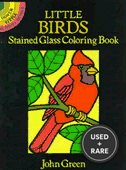 Little Birds Stained Glass Coloring Book (Dover Stained Glass Coloring Book)