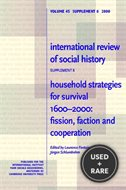 Household Strategies for Survival 1600 2000: Fission, Faction and Cooperation