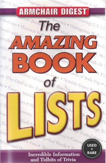 Armchair Digest: the Amazing Book of Lists