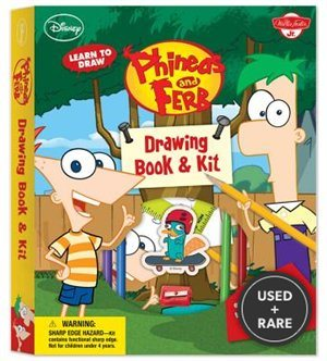 Learn to Draw Phineas and Ferb Drawing Book & Kit