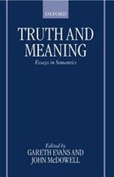 Truth and Meaning: Essays in Semantics