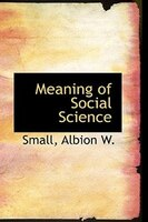 Meaning of Social Science