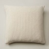 OUI RECYCLED KNIT PILLOW COVER IVORY 20