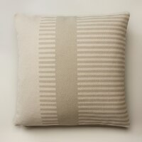 OUI COMBO STRIPE PILLOW COVER IVORY 18