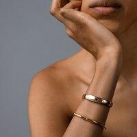 Stevie Bangle Bracelet, Gold