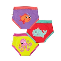 ZOOCCHINI ORGANIC TRAINING PANTS, OCEAN FRIENDS GIRLS 2T/3T