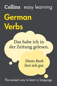 Book Collins Easy Learning German Verbs: With Free Verb Wheel (Third Edition) by Collins