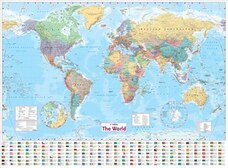 Travel maps in all shops chaptersdigo collins world wall paper map gumiabroncs Choice Image