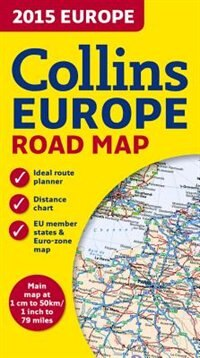 Book 2015 Collins Map Of Europe (New Edition) by Collins Maps