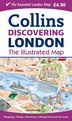 Discovering London Illustrated Map by Dominic Beddow