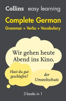Book Easy Learning German Complete Grammar, Verbs and Vocabulary (3 books in 1) (Collins Easy Learning… by Collins Dictionaries