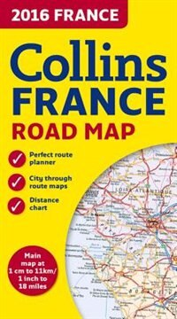 Book 2016 Collins Map of France by Collins Maps