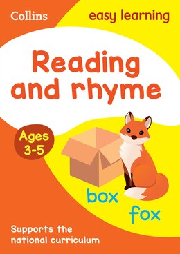 Book Collins Easy Learning Preschool - Reading And Rhyme Ages 3-5: New Edition by Collins Easy Learning