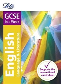 Book Gcse English In A Week (letts Gcse In A Week - For The 2017 Exams) by Letts GCSE